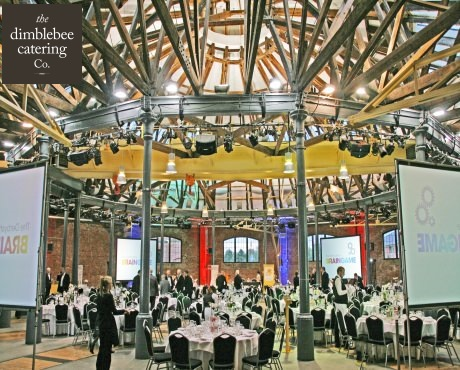 dimblebee catering marie curie braingame catering for large corporate events christmas party venue caterers charity dinner menus food and beverage providers uk