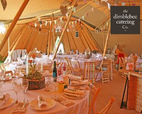 specialist outside caterers marquee catering tipi venues at home garden latest wedding food trends